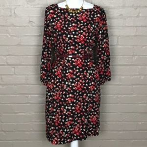 Gap Floral Shift 3/4 Sleeve Dress